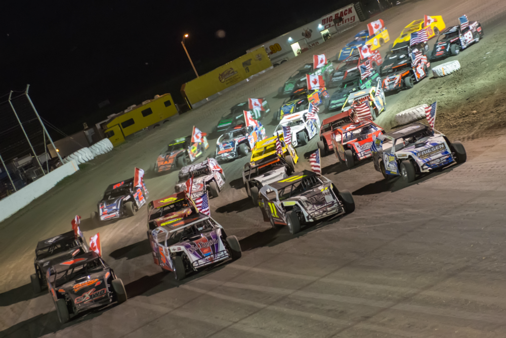 The 2014 Dakota Classic Modified Tour kicks off with the historic 4 wide salute to the fans. 2014